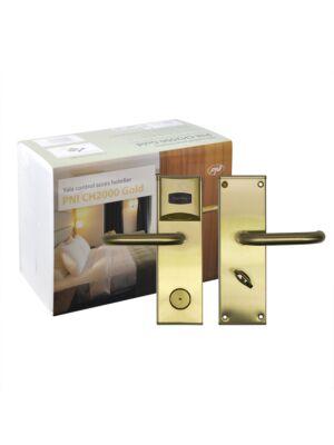 Yala Hotelzugangskontrolle PNI CH2000L Gold mit Kartenleser auf der linken Seite