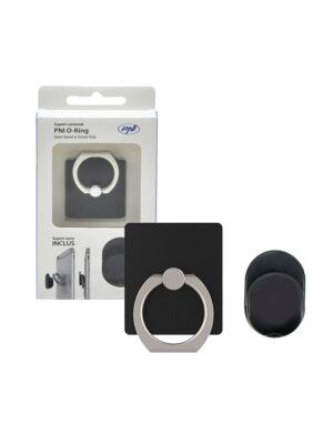 Universelle Unterstützung PNI O-Ring, Desk Stand und Smart Grip, Schwarz, automatische Unterstützung inbegriffen