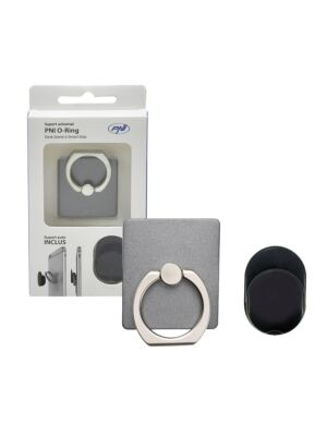 Universelle PNI-O-Ring-Unterstützung, Desk Stand und Smart Grip, Hellschwarz, automatische Unterstützung inbegriffen