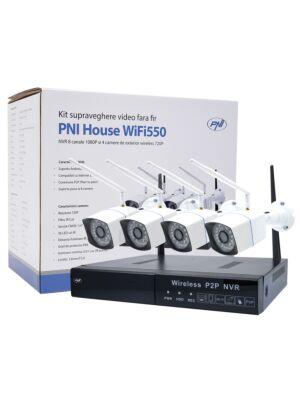Videoüberwachungskit PNI House WiFi550 NVR und 4 drahtlose Kameras, 1.0MP