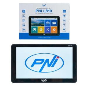 GPS-Navigationssystem PNI L810 7-Zoll-Bildschirm, 800 MHz, 256 MB DDR, 8 GB interner Speicher, FM-Sender