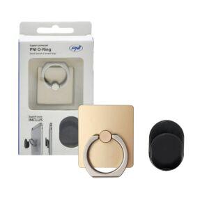 Universelle Unterstützung PNI O-Ring, Desk Stand und Smart Grip, Champagner, automatische Unterstützung enthalten