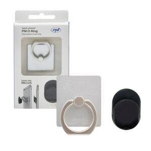 Universelle Unterstützung PNI O-Ring, Desk Stand und Smart Grip, Silber, automatische Unterstützung enthalten