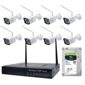 PNI House WiFi550 NVR und 8 Wireless HDD 2 TB enthalten